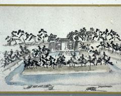 幕末に描かれた福井城「加賀口御門」