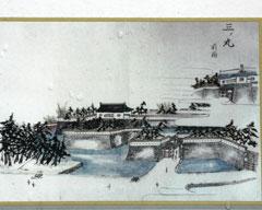 幕末に描かれた福井城「三の丸御門」