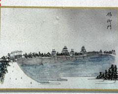 幕末に描かれた福井城「鳩ノ御門」