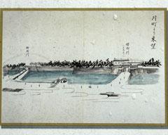 幕末に描かれた福井城の「桜御門」と「柳御門」