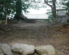 南北朝時代、金ヶ崎城の本丸跡といわれている=金ヶ崎最高地