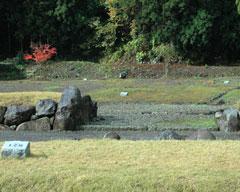 重要な位置といわれる斉藤地区の武家屋敷門跡