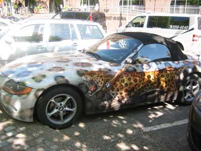 豹柄BMW