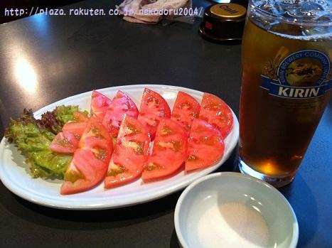 ウーロン茶とトマト