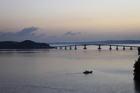 七尾湾の夜明け1