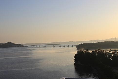 七尾湾の夜明け6