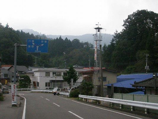 二本松市東和 火の見櫓のある風景