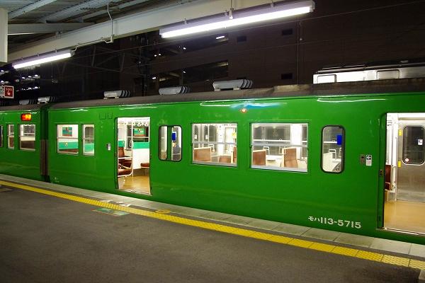 草津線に緑一色の113系 | 裕輝也あおのページ - 楽天ブログ