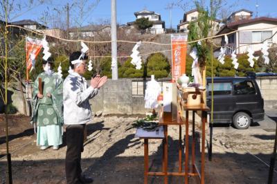塩竈の家地鎮祭