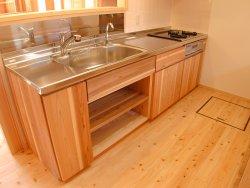 仙台松島手作り木のキッチン
