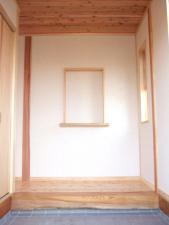 ケヤキ框の玄関