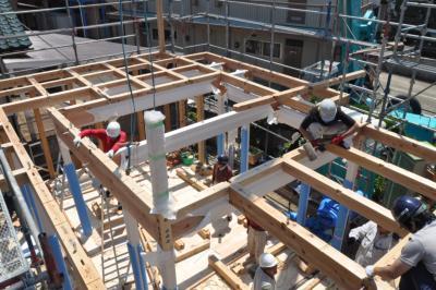 塩釜の家建て方2