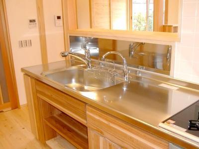 木のキッチン2