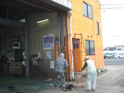 シャッター柱修理工事