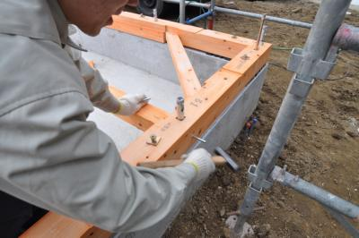 柱ホゾパイプ取付