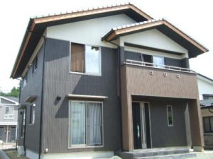 松島町和風モダンな家外観