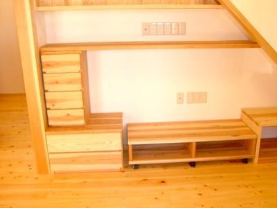階段下のTVコーナーセット