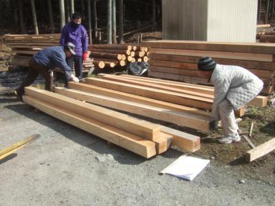 塩竈の家木材選定