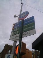 バス停降車