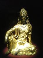 金銅觀音菩薩坐像