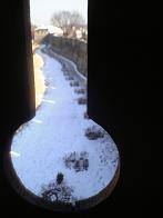 銃穴から見た城郭