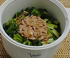 小松菜とツナ