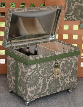 一升瓶収納用インテリア茶箱