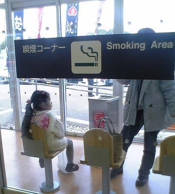 わざわざ子供に受動喫煙をさせる馬鹿親