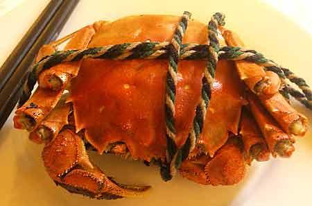 いわゆる上海ガニ。本当は大閘蟹といいます。