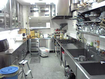東海テレビ内の厨房