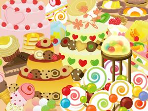お菓子たちの大宴会 美味しいイラストの部屋 楽天ブログ