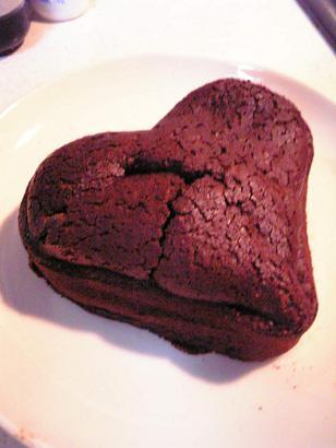 チョコケーキ。ハート