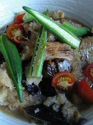 鮭と野菜のめんつゆおろし