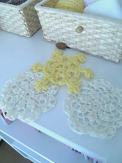 レース編み編み