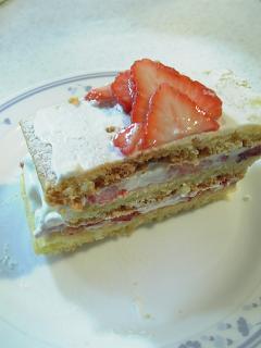 ミルフィーユ風ケーキ。