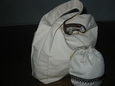 ハンドメイド ショッピングバッグとポーチ2