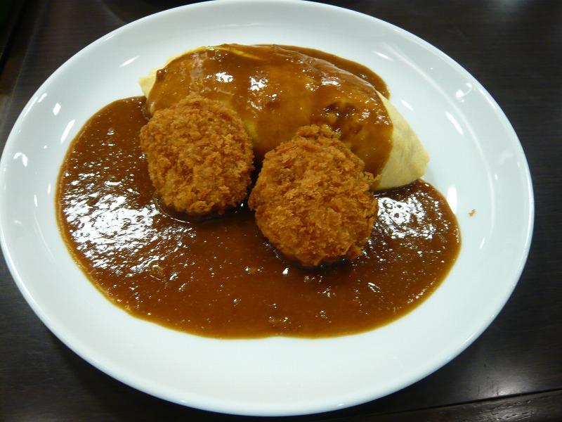 関西空港 レストランにて コロッケカレー