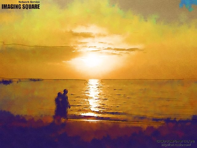 12月のパタヤのビーチ by Image Square