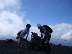 頂上手前の峰
