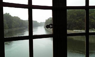 シュノンソー城の窓から外をみたところ