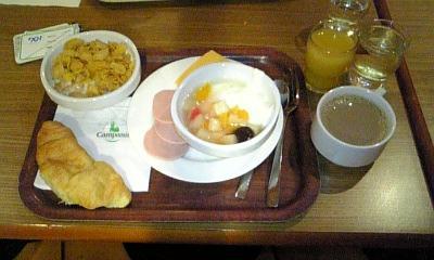 24日の朝食