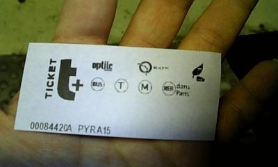 地下鉄チケット表