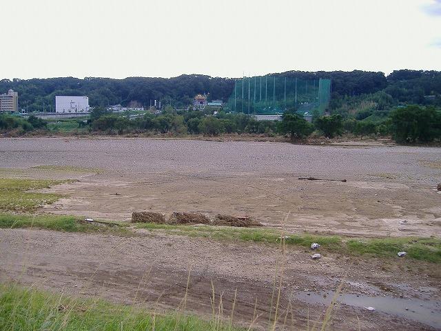 洪水後の庄内川
