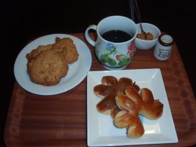 パン&ナッツとチョコのクッキー