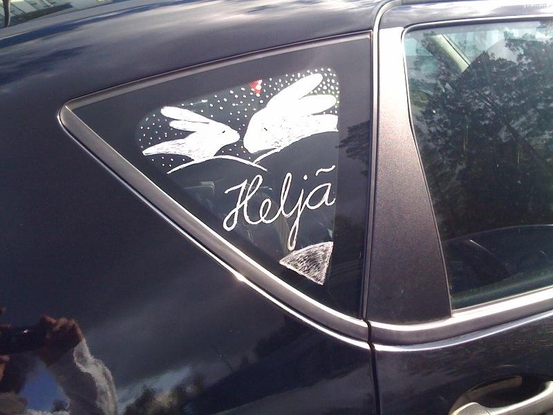 ヘルヤさんの車には自信のペイントいいですね~。.jpg
