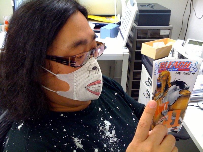 このマスクをしていればインフルエンザにはかからないらしい。.jpg