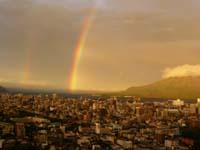 2008年9月18日台風と桜島と虹