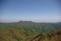 新緑の山々