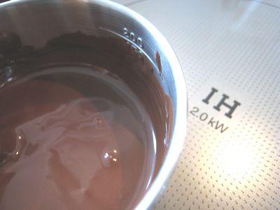 チョコ。湯煎代わり