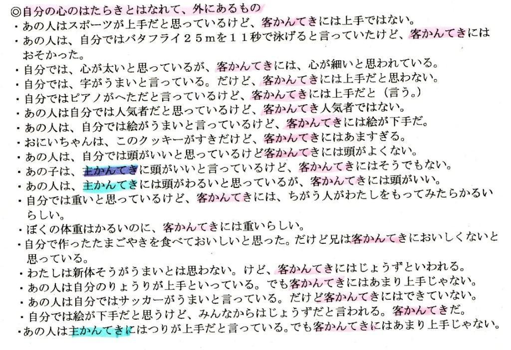 主観・客観(1)